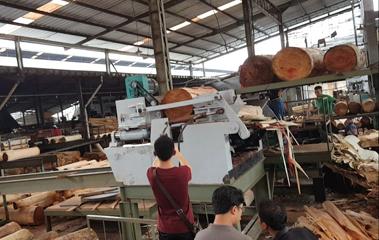 Hardwood Log Debark Rounding Machine Diameter 500mm