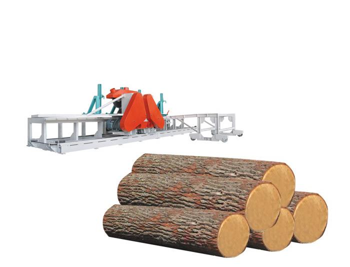 重型圆木推台锯 φ400mm